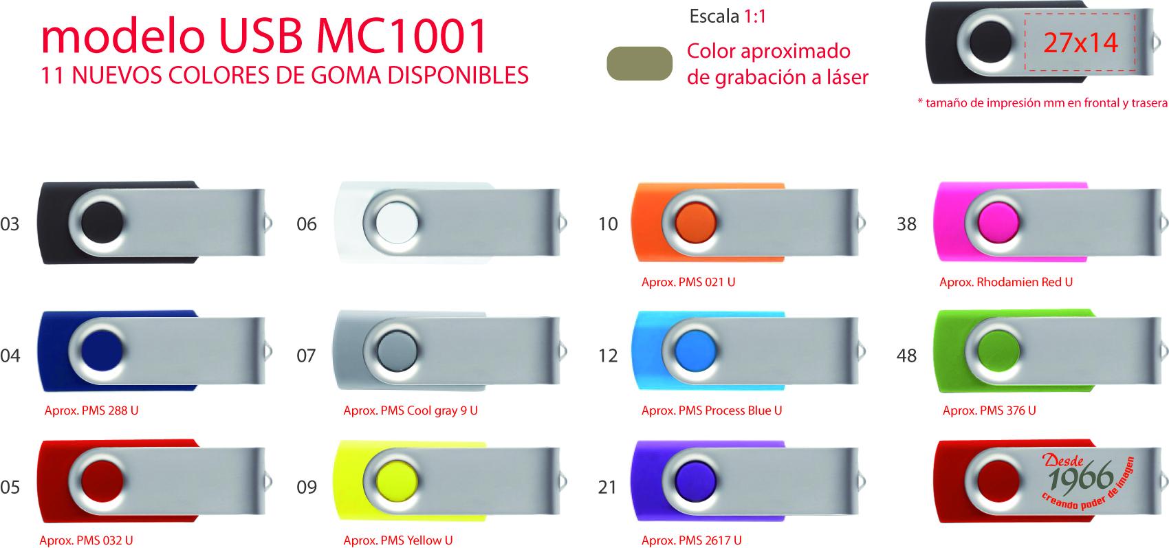 Modelo USB MC1001