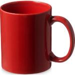 Taza de cerámica de diseño clásico de 330 ml de color rojo